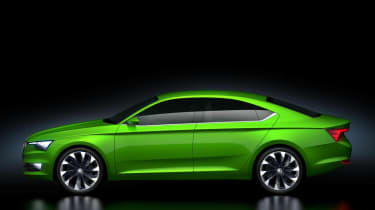 Skoda VisionC concept car side profile