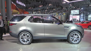 Land Rover Discovery Vision concept New York show side profile