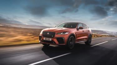 Jaguar F Pace SVR 2021 review - front tracking