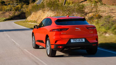 Jaguar I-Pace driving - rear quarter