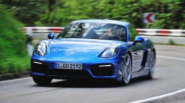 Porsche Cayman GTS blue