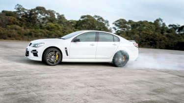 Vauxhall VXR8 GTS burnout