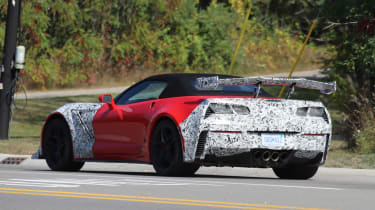 Chevrolet Corvette ZR1 spied - rear