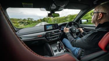 BMW M5 CS – interior driving