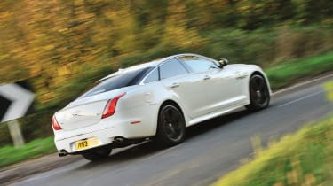 Jaguar XJR white rear