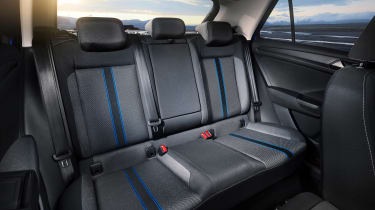VW T-Roc - Blue interior rear 2