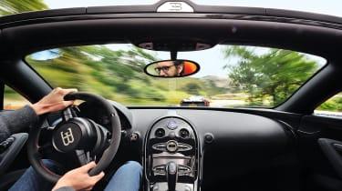 Pagani Huayra vs Bugatti Veyron Vitesse interior shot