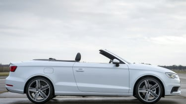 Audi A3 Cabriolet roof open down