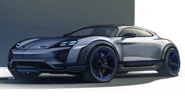 Porsche Mission E Turismo concept - sketch