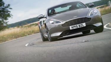 Aston Martin DB9 GT driving