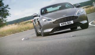 Aston Martin DB9 GT driving