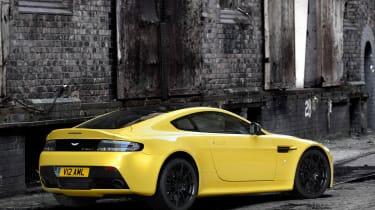 Aston Martin V12 Vantage S yellow rear