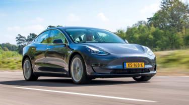 Tesla Model 3 front grey