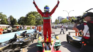 Di Grassi celebrates his victory