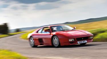 Ferrari 348 cornering