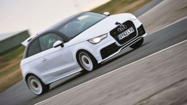 Audi A1 Quattro vs Mini JCW GP, Ford Focus RS500 and Renault Megane R26.R: On track