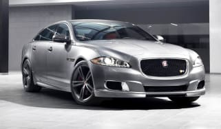 New Jaguar XJR supercharged sports saloon silver
