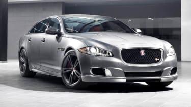New Jaguar XJR supercharged sports saloon silver