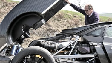 Pagani Zonda 760RS - the most extreme Zonda engine bay open