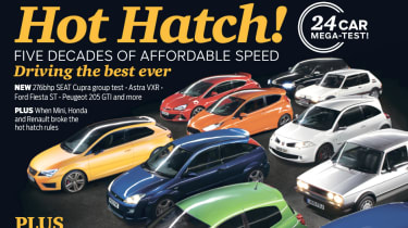 evo Magazine May 2014 - best hot hatchbacks ever cover