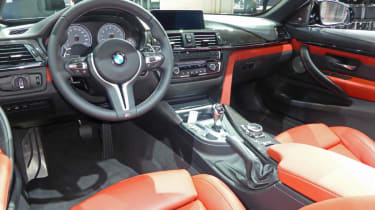 BMW M4 Convertible New York show interior
