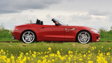 2013 BMW Z4 sDrive35i side profile roof down