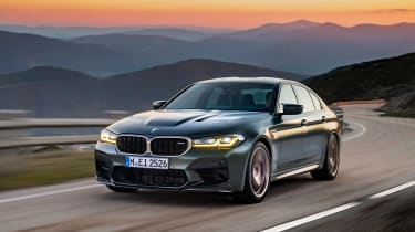 BMW M5 CS - front tracking