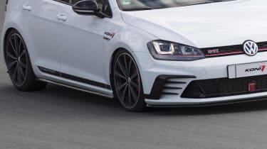 Volkswagen Golf GTI Clubsport cornering detail