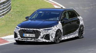 Audi RS3 mule 2020 – front quarter