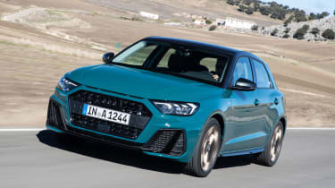 Audi A1 First Edition - teal front quarter