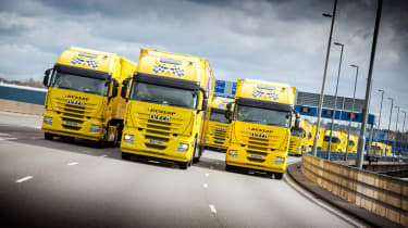 Dunlop Motorsport has celebrated the milestone with an impressive ten-truck drive-by stunt.