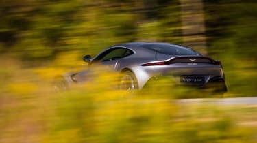 Aston Martin Vantage - silver dynamic rear quarter