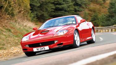 Ferrari 550 Maranello cornering