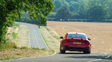 Audi RS7 red - evo hard cornering