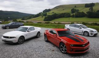 Chevrolet Camaro SS v Ford Mustang GT v Vauxhall VXR8 Bathurst S v Cadillac CTS-V