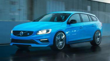 Volvo V60 Polestar blue front