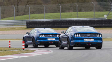 Ford Mustang GT V8 rear cornering