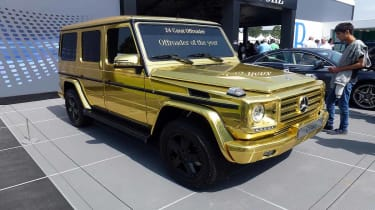 Gold Mercedes G-Wagen