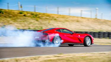 Ferrari 812 Superfast Anglesey - drifting