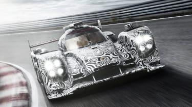 Porsche LMP1 Le Mans car front view