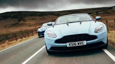 Aston Martin DB11 & Vanquish S - front