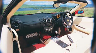 Ferrari Spider cabin