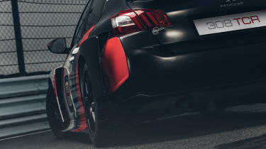 Peugeot Sport 308 TCR rear lights