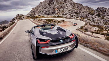 BMW i8 Roadster - silver rear