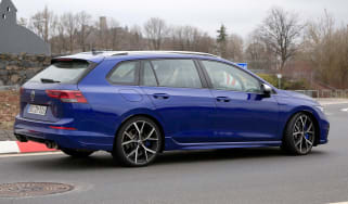 Golf R Estate 2021 spied - rear quarter