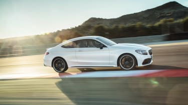 Mercedes-AMG C 63 S Coupe - white track
