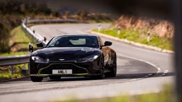 Aston Martin Vantage - black cornering