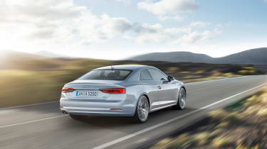 Audi A5 coupe silver - studiorear