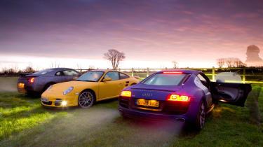 Porsche 911 Turbo v Nissan GT-R v Audi R8 V10