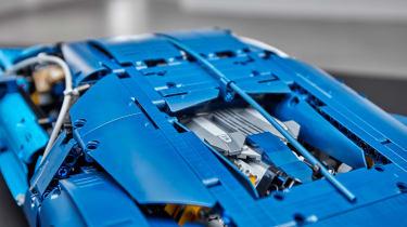 Bugatti Lego header engine bay